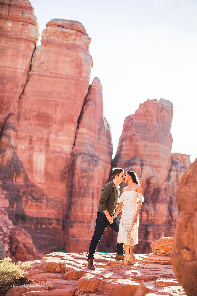Sedona engagement session on Cathedral Rock