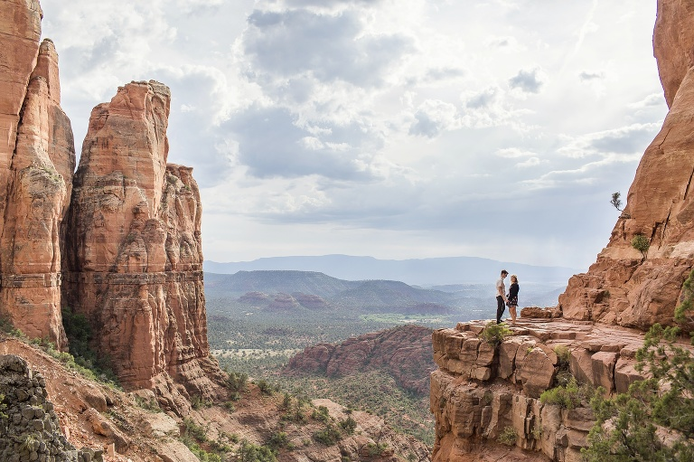 Cathedral Rock Sedona engagement photography