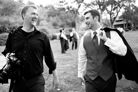 Andrew with groom at Rancho Los Lagos