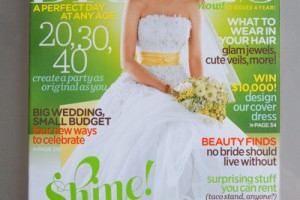 The cover of Brides magazine