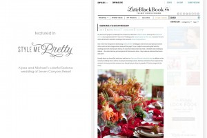 Style Me Pretty featured Seven Canyons wedding