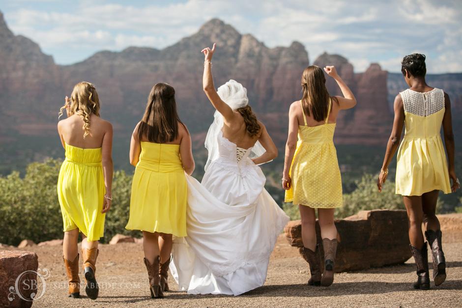 Sedona wedding venues sedona wedding photography sedona bride bridesmaids walking junglespirit Gallery