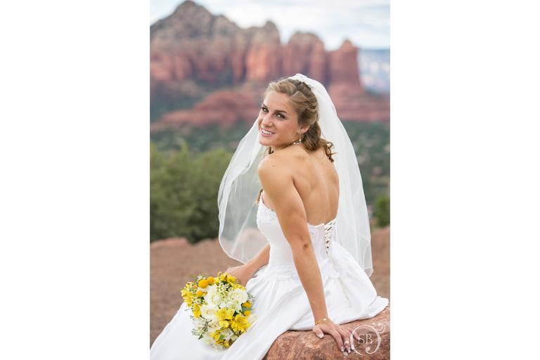 Bridal portrait in Sedona