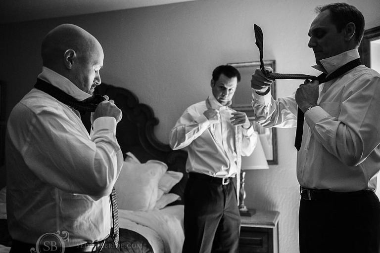 L'Auberge Weddings ~ the groom gets ready at the lodge