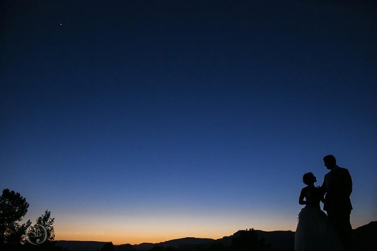 Blue Sedona Arizona sky view from Sky Ranch Lodge on airport mesa