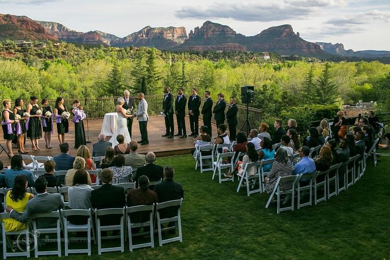 Sedona Arizona Wedding Ceremony View from Spirit Song at L'Auberge de Sedona
