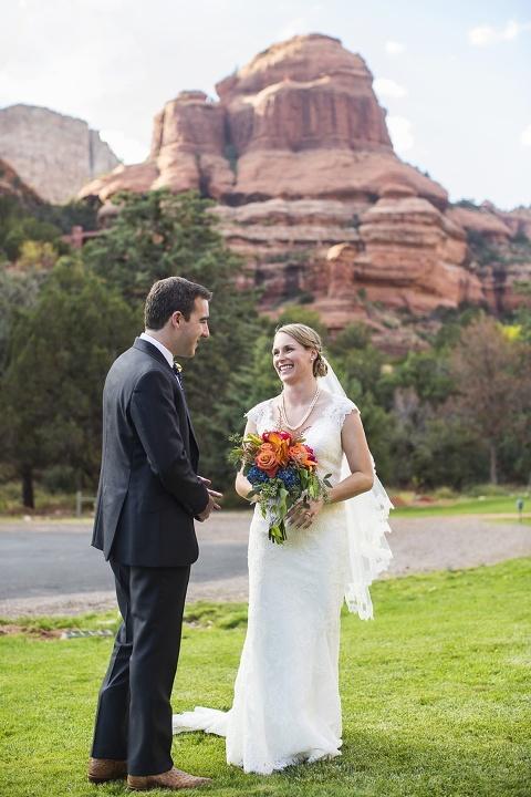 meg and brian s enchantment resort wedding preview sedona wedding