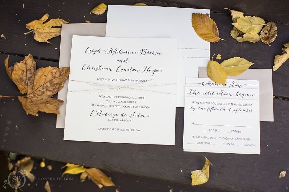Sedona wedding invitation by Celebrations in Paper