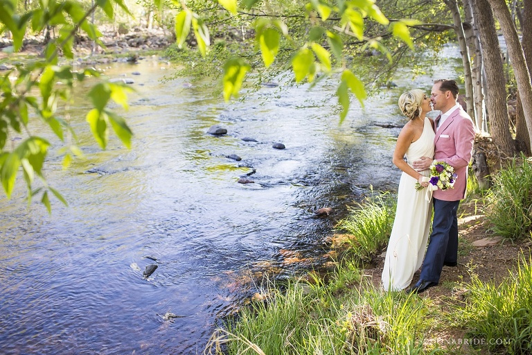 L'Auberge Sedona wedding photography on Oak Creek by Sedona Bride