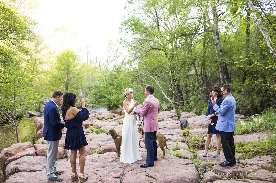 LAuberge Sedona wedding photography on Oak Creek by Sedona Bride - Intimate ceremony at Serenity Point