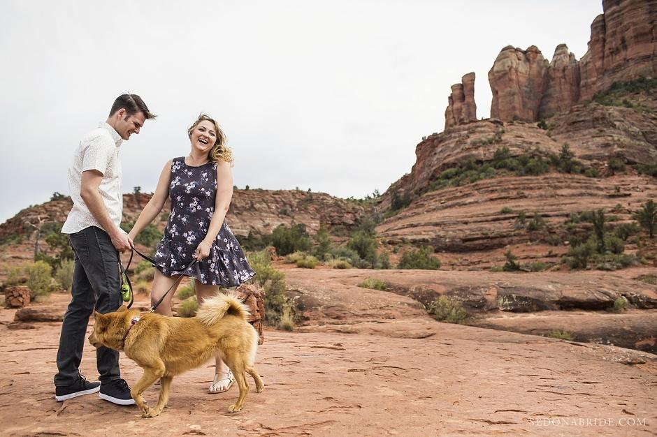Cathedral Rock Sedona Engagement Session by Sedona Bride Arizona wedding photography