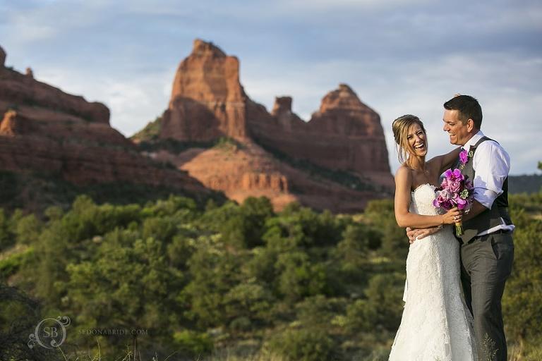 Tlaquepaque Sedona Wedding Portraits on the red rocks - Contact us to begin planning your Sedona wedding!