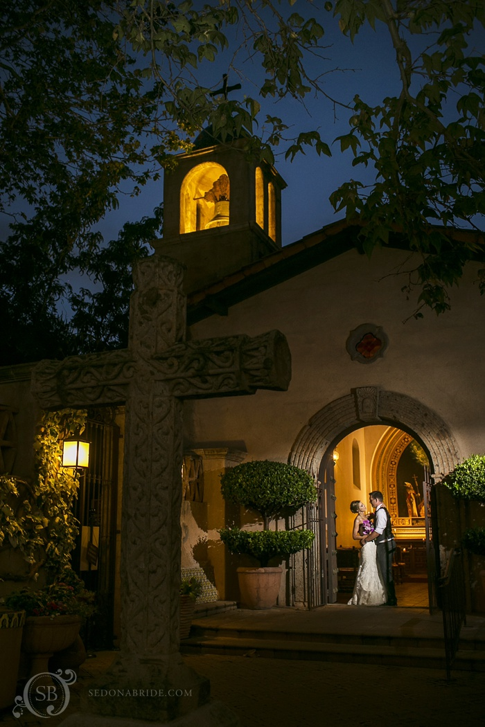 Tlaquepaque Sedona Wedding Portraits at the chapel - Contact us to begin planning your Sedona wedding!