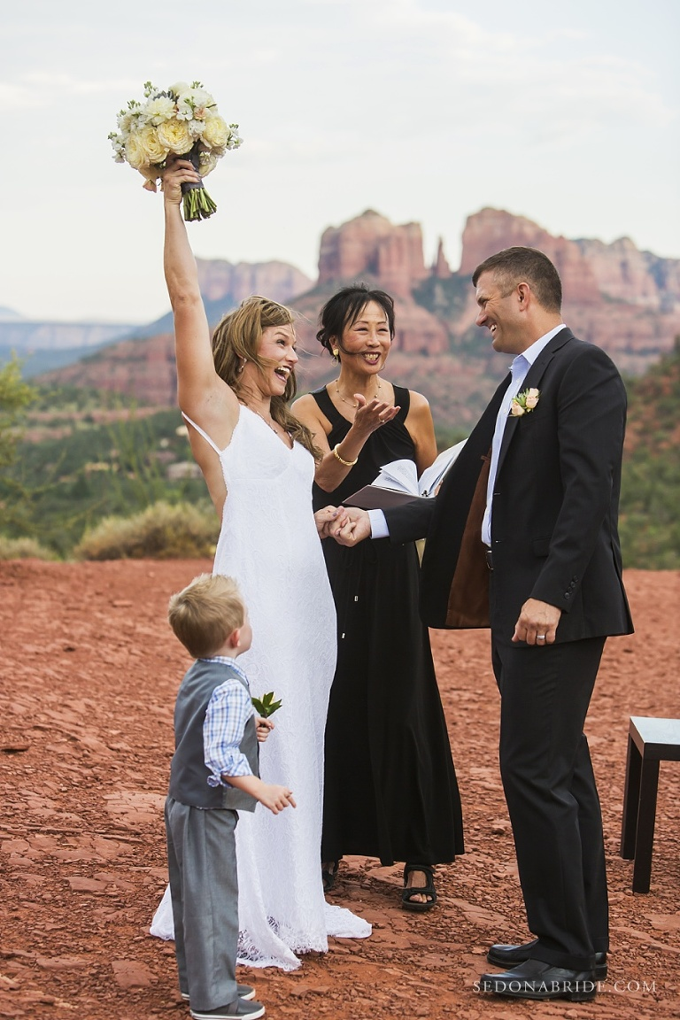 Sedona elopement with Intimate Sedona Weddings