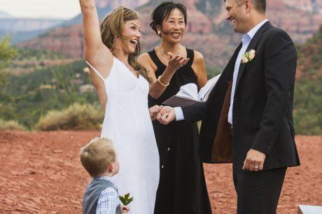 Sedona elopement with Intimate Sedona Weddings