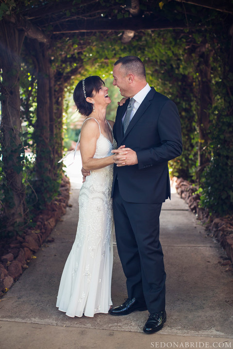 This beautiful elopement started at L'Auberge de Sedona.